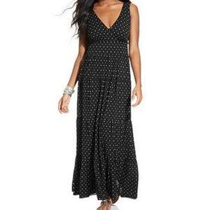 Style & Co Tiered Polka Dot Maxi Dress